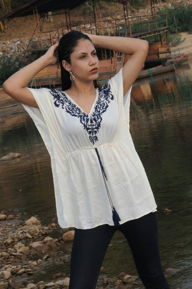 Blusa Bata Branca Bordada Importada Roupa Feminina
