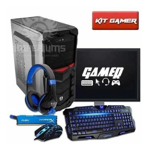 Pc Gamer Core G4560 8gb 1tb Gtx1050 Ti 4gb C/ Kit!