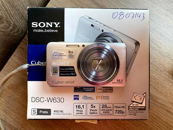 Câmera Sony Cyber-shot Dsc-w630 16.1mp + Cartão 8gb