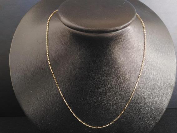 Colar Corrente Elo Português 40cm. Ouro 18k(750).