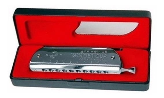 Armonica Cromatica 10 Agujeros 40 Voces Golden Cup Jh1040