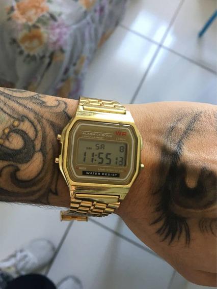 Relógio Unissex Casio Retrô Dourado Barato Frete Grátis Top
