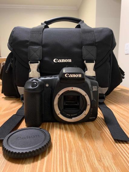 Câmera Canon Eos 20d + Gadget Bag + Leitor Flash Card
