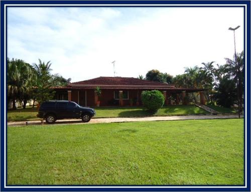 Chácara Com 3 Dormitórios À Venda, 2630 M² Por R$ 950.000,00 - Condomínio Estância Beira Rio - Jardinópolis/sp - Ch0003