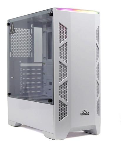 Gabinete Redragon Starscream Branco Vidro Mid Tower S/ Fan
