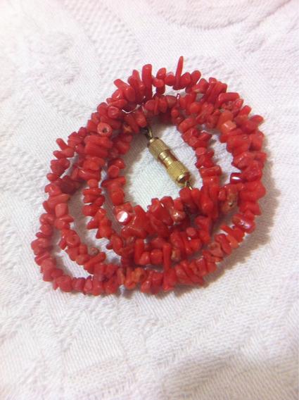Colar Coral Cor Salmao Contas Naturais. Veja 5 Fotos