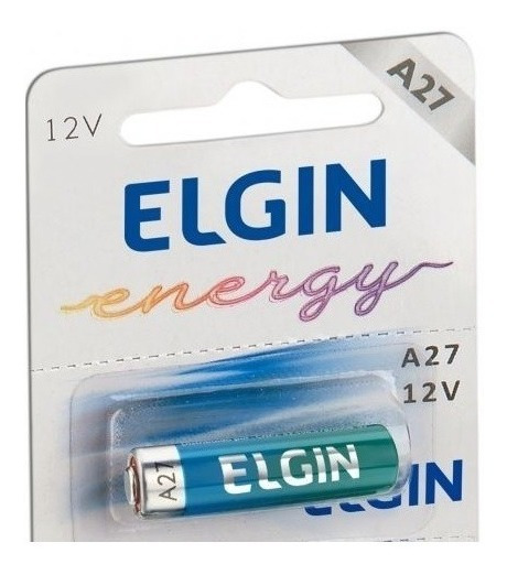 5pcs Pilha Elgin Bateria 12v A27 Fina Controle Portão Alarme