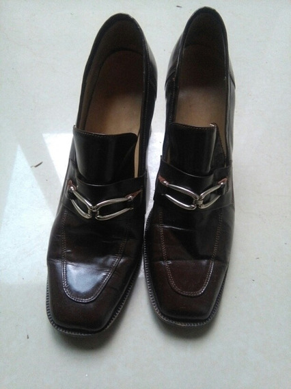 Zapato Stiletto Marron.impecable Usado.talle 37