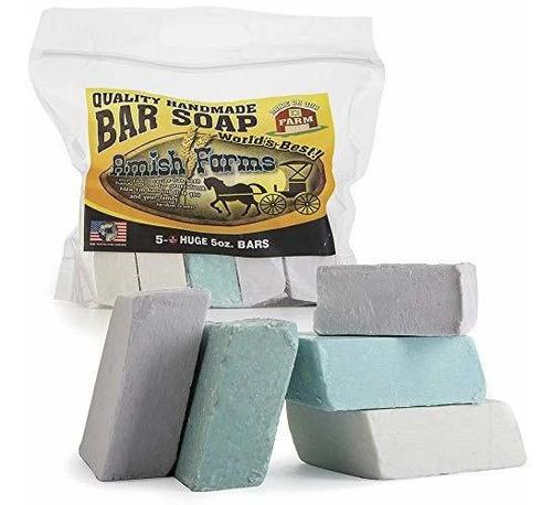 Todo Natural Amish Farm Bar Soap Variedad 5-pack Cold