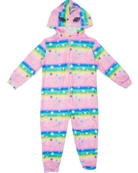 Pijama Nena Unicornio Kigurumi Ojos Bordados Lentejuelas