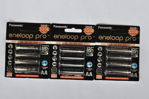 Pilhas Rec. Eneloop Pro Aa Ct Kit 08 Pilhas Und 2.550 Mah