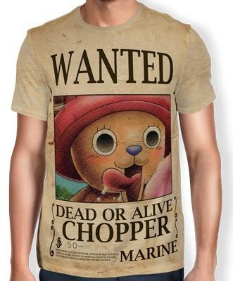 Camisas Camisetas De Animes One Piece Wanted Chopper