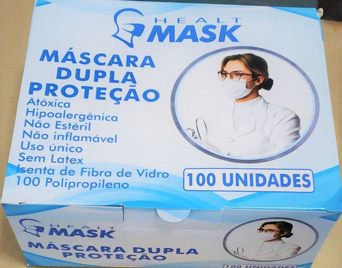 Imagem 1 de 2 de Mascara Facial Dupla Descartavel Tnt- 100und