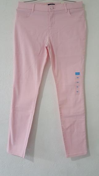 Pantalón De Mezclilla Rosa