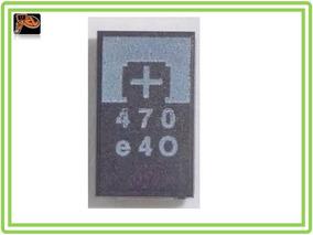 Capacitor Smd Tântalo 470uf 2.5v 470 Reparo Ps3 Kit 6 Peças