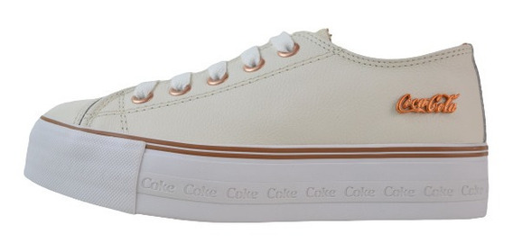 Tenis Fem. Coca-cola Shoes Atlanta Plataforma Off Wht/cbr Cc