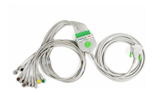 Imagen 1 de 2 de Cable Paciente Decapolar Snap Eccosur Ergometría