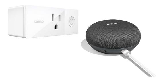 Asistente Personal Google Home Mini Negro + Wemo Smart Plug