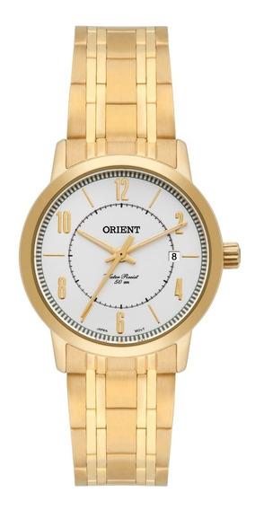 Relógio Orient Feminino Fgss1110 S2kx Aço Dourado Analogico