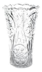 Florero De Plastico Tipo Cristal Bohemia 2 Pzas