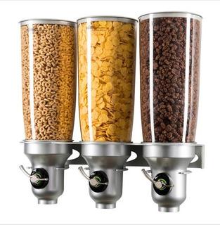 Dispensador Cereales,granos Cafe Y Demas Triple 5 Litros C/u