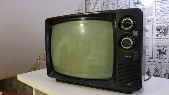 Tv Retrô Mustang Modelo Tv 4000 B&w 12 Polegadas Relíquia