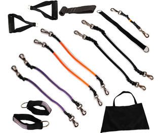 Kit Mega Elásticos Extensores-6 Níveis Força - Exetex Sports