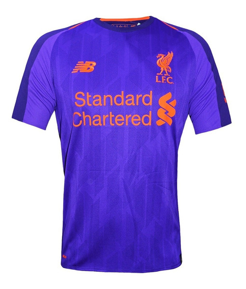 Camiseta Alternativa Liverpool New Balance 2019 Violeta
