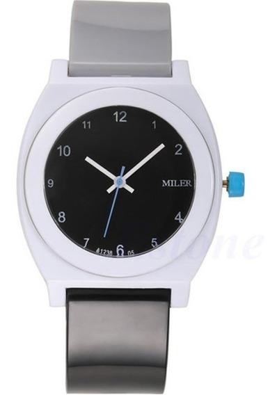 Relógio Miler Colors Esporte Pulseira De Plastico