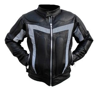 Chamarras De Piel Con Protecciones Motociclista Bikers Cs21