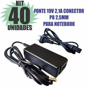 Kit 40 Peças Fonte Carregador 19v 2.1a Notebook Positivo