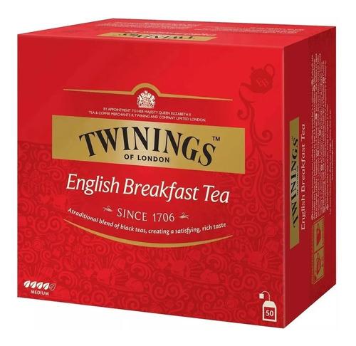 Imagen 1 de 1 de Té Twinings English Breakfast 50 Saquitos