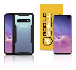 Capa Dual Shock + Película Nano Gel Galaxy S10 Plus - Gs