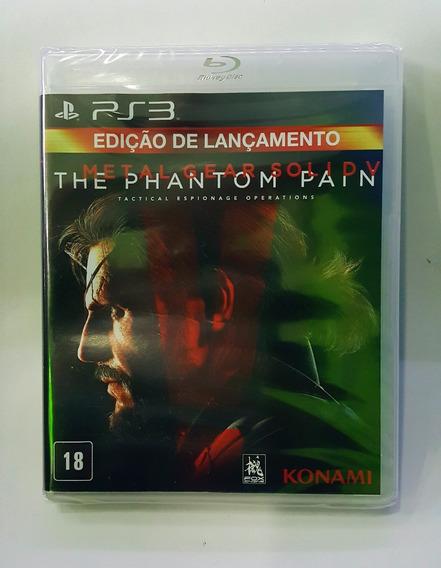 Metal Gear 5 The Phantom Pain Mídia Física Ps3 Lacrado Br