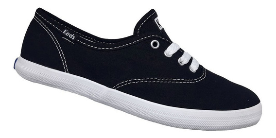 Tênis Keds Champion Woman Canva - Preto