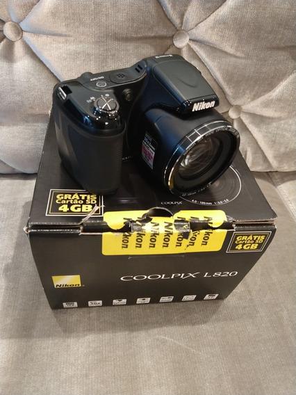 Câmera Nikon Coolpix L 820 Semi Profissional - Novíssima