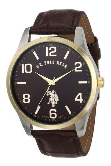 Reloj U.s. Polo Assn. Classic De Hombre, Extensible De Piel
