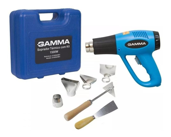 Soprador Térmico 1.500/2.000w 300/550°c C/ Kit G1935k Gamma