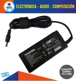 Cargador Laptop Toshiba 19v 3.42a Punta Negra