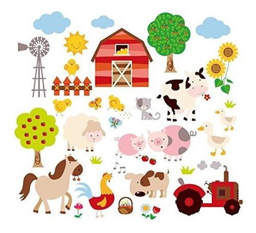 Farm Friends Babynursery Peel Y Stick Vinilo Etiqueta De La