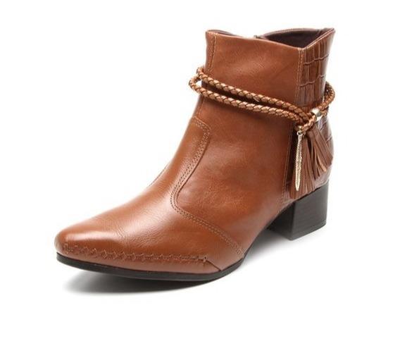 Bota Ankle Boots Ramarim Total Comfort 17-57102 Pinhão 8856