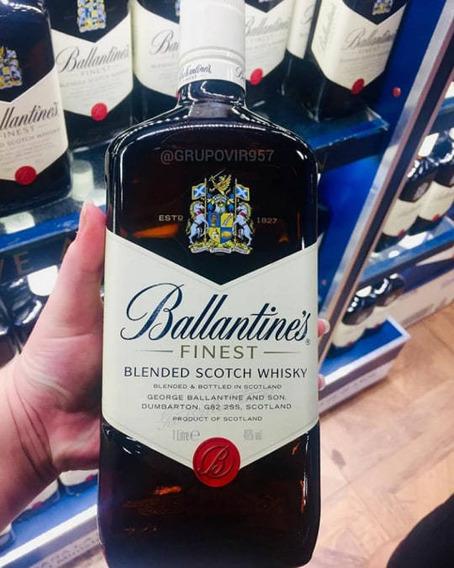 Licor Whisky Ballantines Finest Litro Whisky Añejo Original