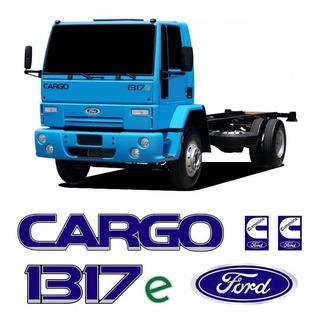 Kit Completo Emblemas Adesivo Ford Cargo + 1317e + Cummins