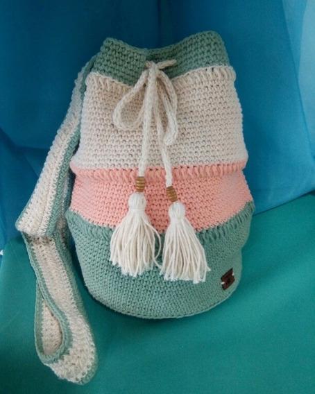 Bolso Tejido En Crochet