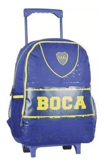 Mochila Boca Juniors Carrito Colegio Original Lic Cuotas