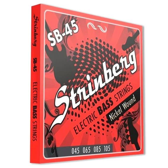 Encordoamento Contra Baixo Strinberg 4 Cordas Sb-45 0.45