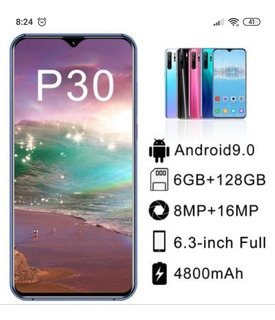 P30 Pro 4g Android 9.1 Smartphone 6gb Ram 128gb Rom 6.3