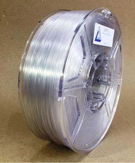 Filamento 3d Flexível_tpu_transpare_1,75mm_1 Kg_frete Grátis