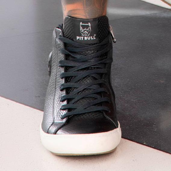 Tênis Masculino Pit Bull Jeans Cano Alto 35551