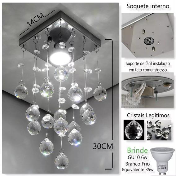 Lustre De Cristal Original K9 Com Lâmpada - Envio Grátis
